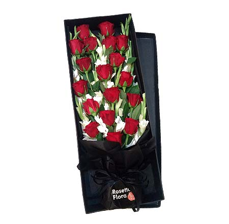 Rectangular Gladiolus Roses Box | Send Get Well Soon Flowers to Pakistan
