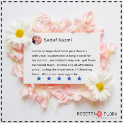 Sadaf Kazmi | Reviews | Flower Shop in Karachi