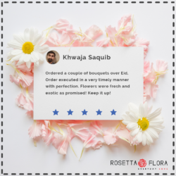 Khwaja Saquib | Reviews | Flower Shop in Karachi