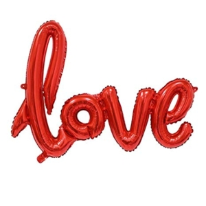 Red Love Self Inflating Foil Balloon | Flower shop in Karachi