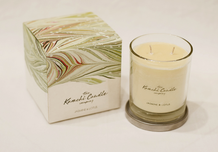 Jasmine & Lotus Scented Candle | Flower shop in Karachi