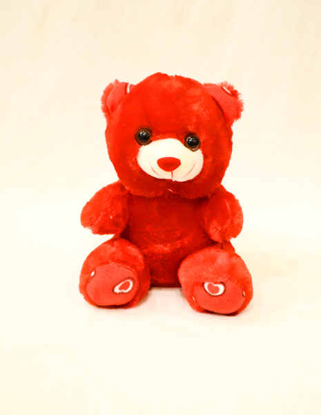 Red Teddy Bear 8 inches | Flower shop in Karachi