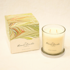 White Champa Scented Candle | Flower shop in Karachi