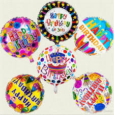 Happy Birthday Inflated Foil 5 Balloons | Flower shop in Karachi