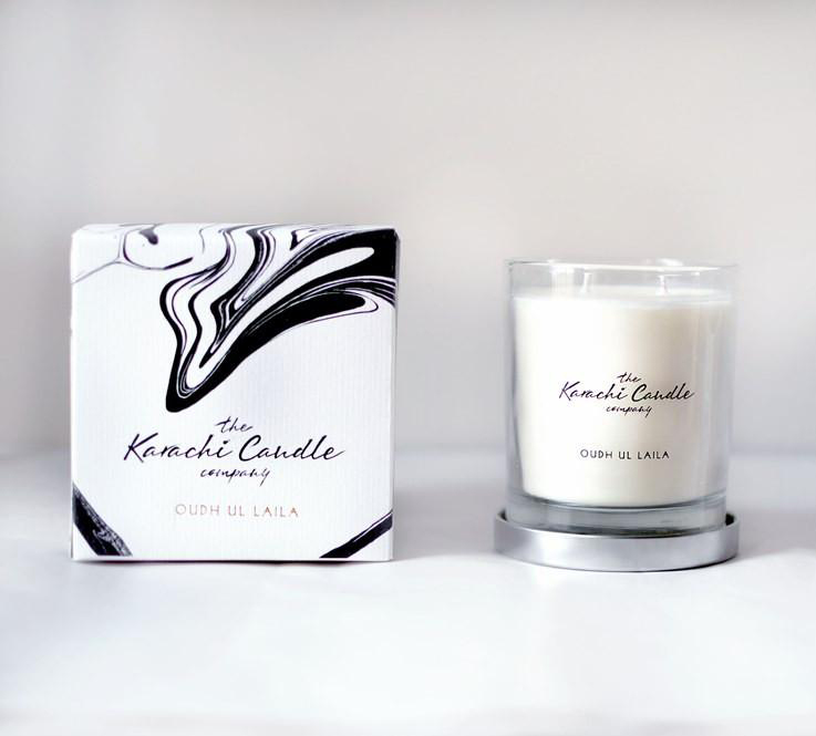 Oudh ul Laila Scented Candle   Flower shop in Karachi