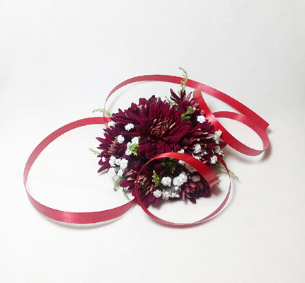 Red Daisy Corsage | Flower shop in Karachi