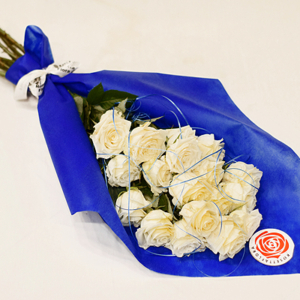 Twenty White Roses Bouquet | Flower shop in Karachi