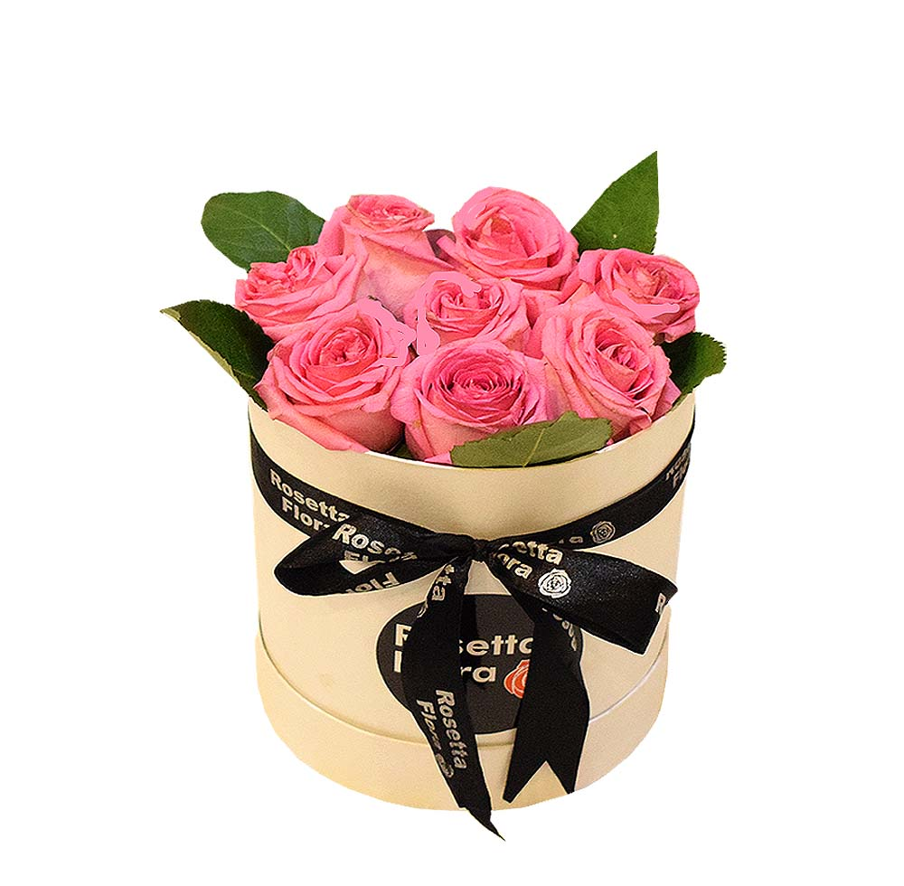 Pink Roses Round Box | Send Birthday Flowers Gifts to Pakistan