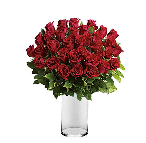 Enduring LOVE – Red long stemmed Roses | Send Flowers to Pakistan