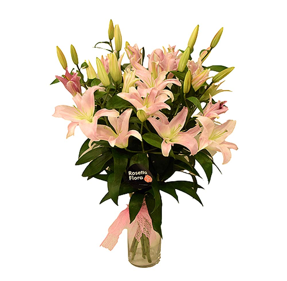 Lilies with Vase | Send Flowers to Pakistan
