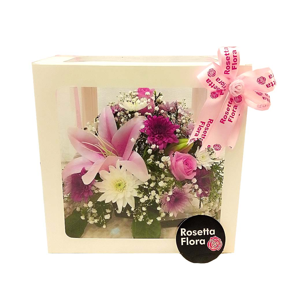 Acrylic Floral Box | Send Birthday Flowers Gifts to Pakistan