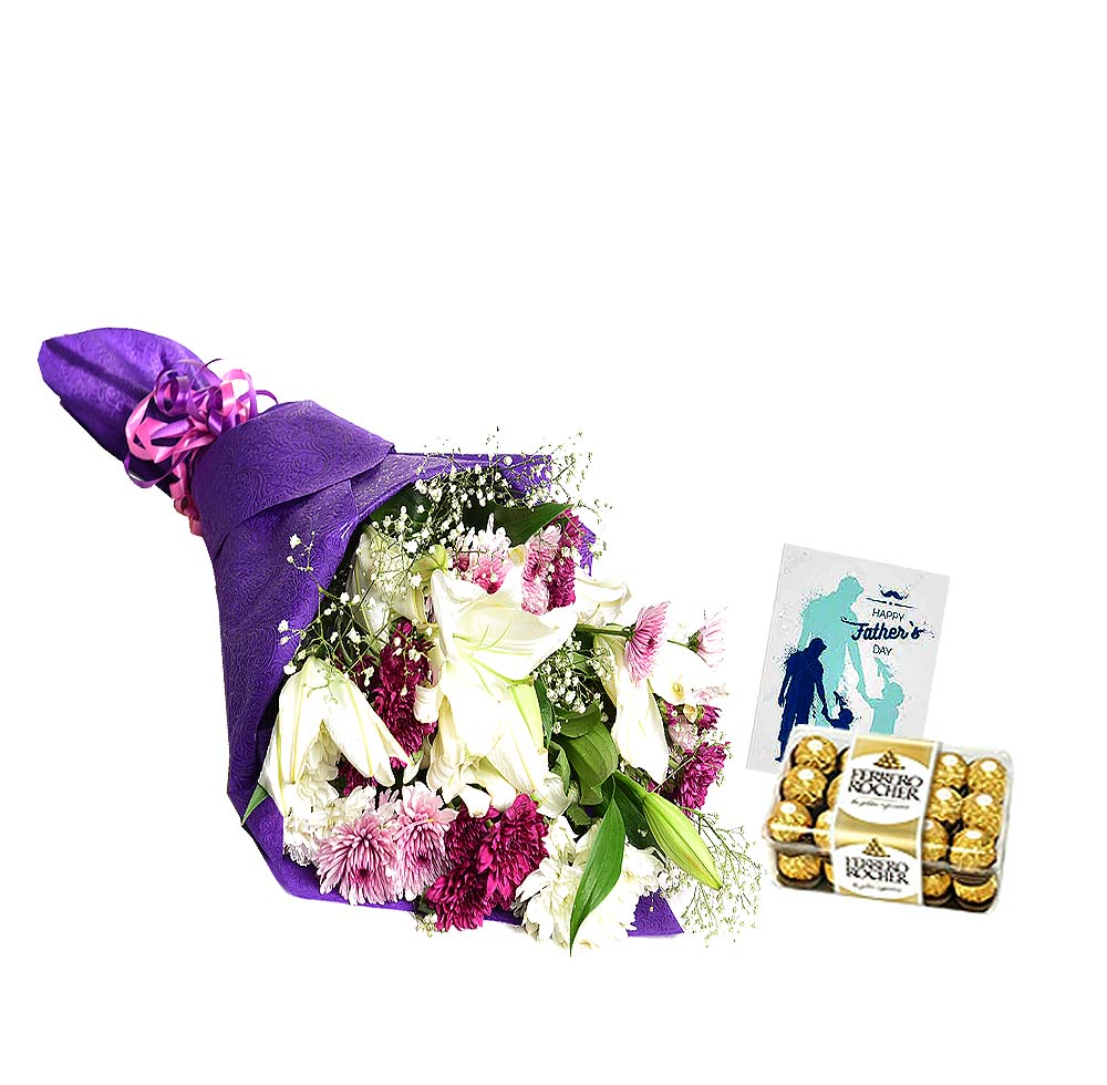 Brilliance Combo | Send Father's Day Flowers to Pakistan